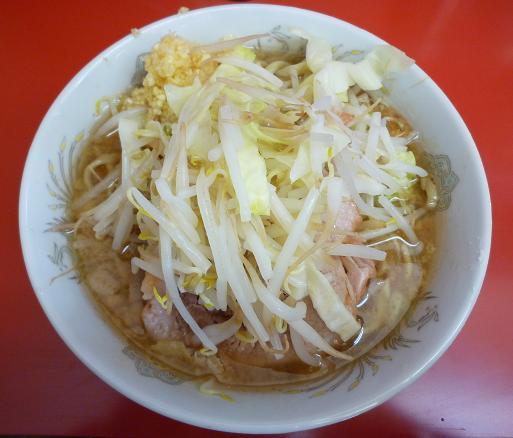 『ラーメン二郎 小岩店』 小ラーメン(豚2枚・ニンニク)700円