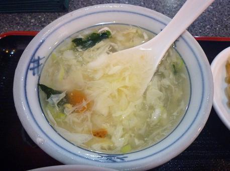 『海華 青砥店』 Cランチのスープ