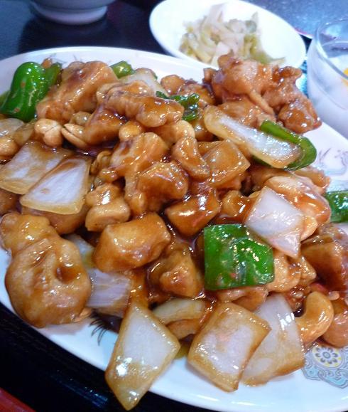 『海華 青砥店』 Cランチ「鶏肉とカシューナッツ炒め」アップ