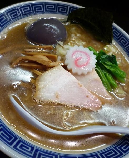 『麺や ポツリ』 味玉中華そば(並) アップ