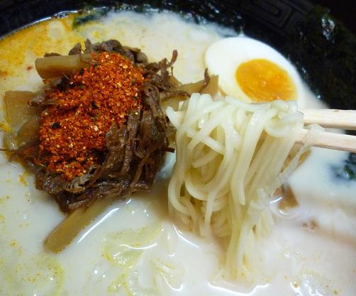 『麺処 こって牛』 元祖牛そば(麺リフト)