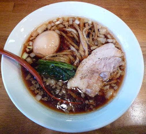 『(名前のないラーメン屋・貴里純)』 味玉ら~めん(800円)