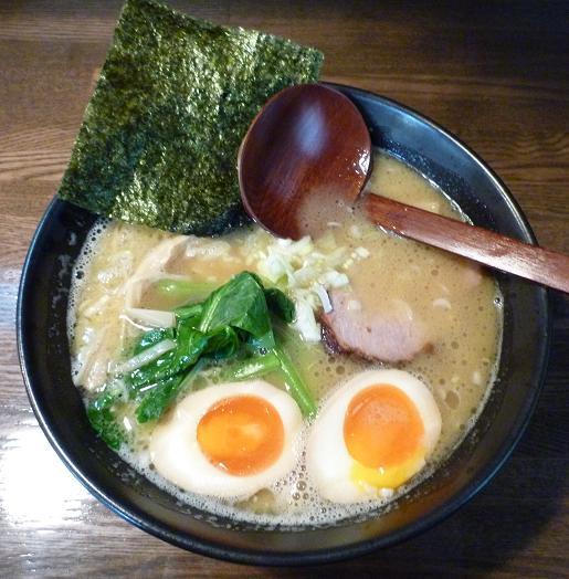 『麺屋 なごみ』 白湯麺(750円)+味玉半分(50円)