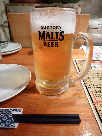 『炙一丁』 生ビール