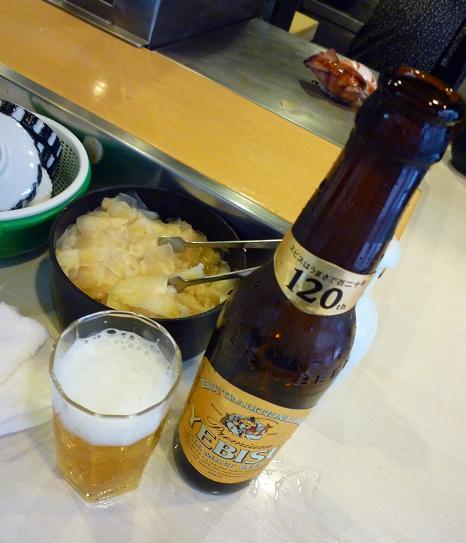 『栄寿司』 ビール小瓶