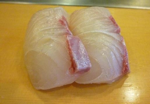 『栄寿司』 かんぱち(1貫100円)