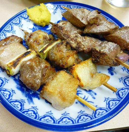 『江戸っ子@立石』 カシラとレバ混ぜて塩(1皿320円)