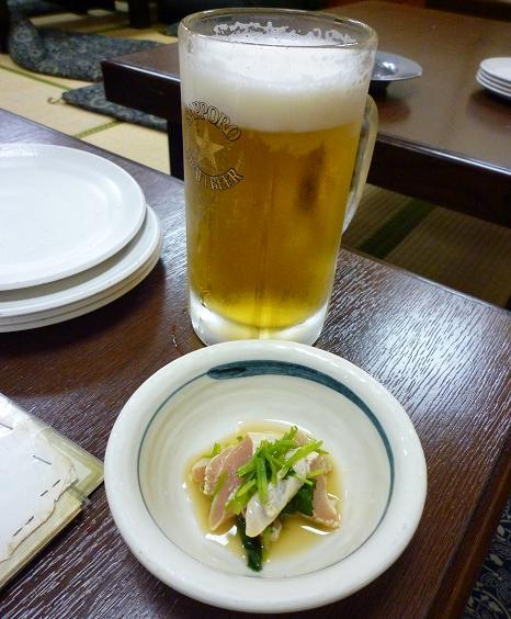 『風来坊 栄店』 生ビールとお通し