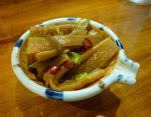 『居酒屋 暁』 干瓢煮(お通し)