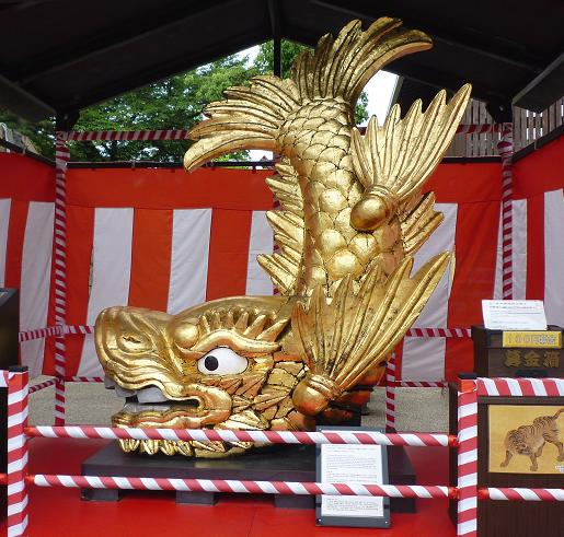 金のシャチホコ@名古屋城(2010年6月)