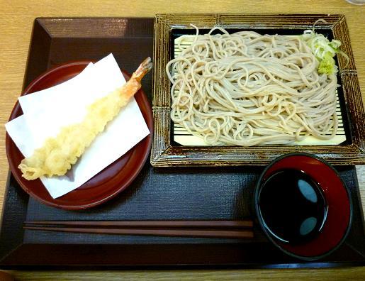 『いわもとQ』 もり(280円)+海老天(150円)