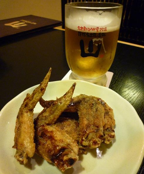 『尾張名古屋の台所 山 本店』 幻の手羽先唐揚と生ビール