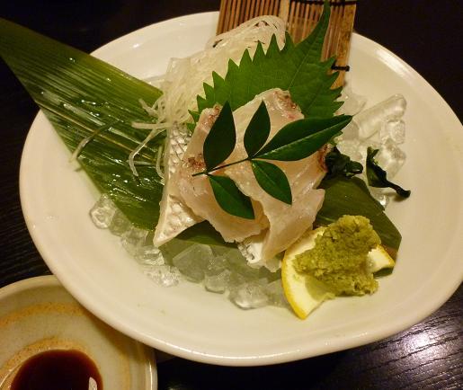 『尾張名古屋の台所 山 本店』 鯛刺し身