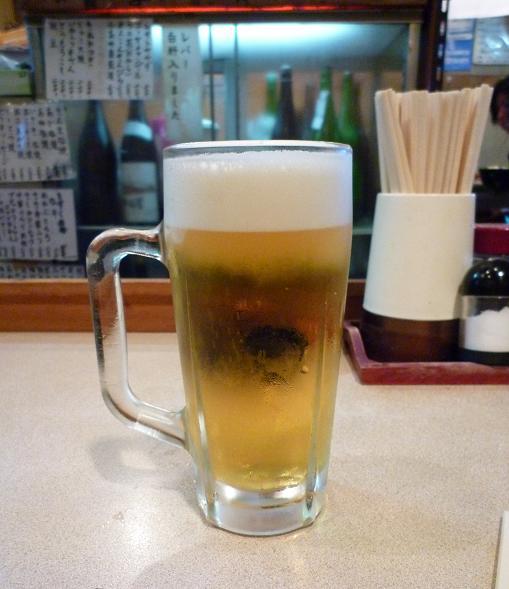 『歓酒亭 大安』 生ビール(サッポロとアサヒが有り)