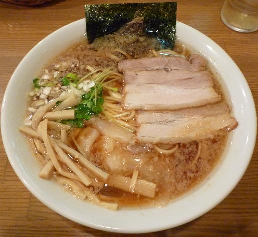 『らーめん 雅ノ屋』 醤油わんたんめん(750円)