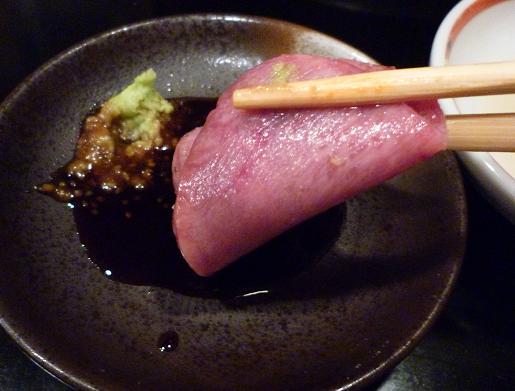 『(某焼肉店)』 塩タンを生で山葵醤油で(10)