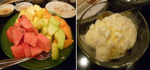 『(某焼肉店)』 フルーツ盛り合わせとバニラアイス(24)