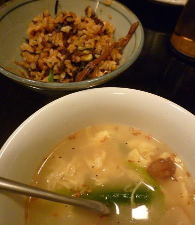 『(某焼肉店)』 ミニ混ぜご飯と玉子スープ(23)