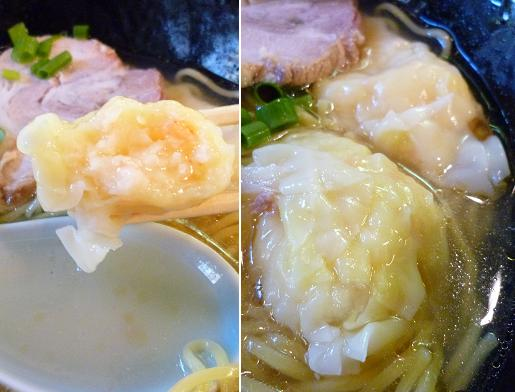 『麺 逸九』 コラーゲン鶏冷しラーメン(梅干無し) 海老ワンタン