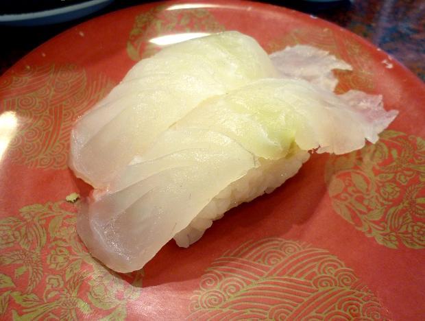 『すし銚子丸 立石店』 大分産鯛(262円)