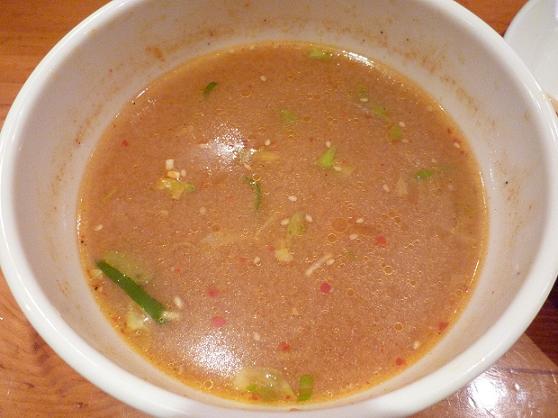 『中華そば すずらん』 清浄麺(つけそば・味噌)  スープ割後