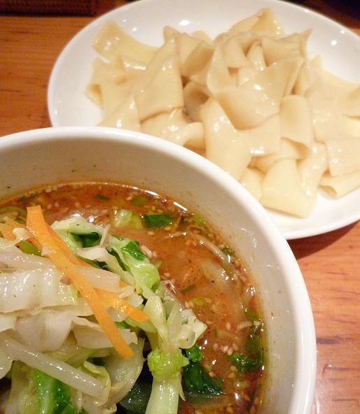 『中華そば すずらん』 清浄麺(つけそば・味噌・平打麺・並盛) アップ