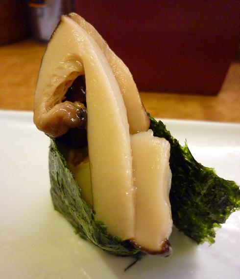 『奴寿司』 松茸(「おまかせ」の中の1個)