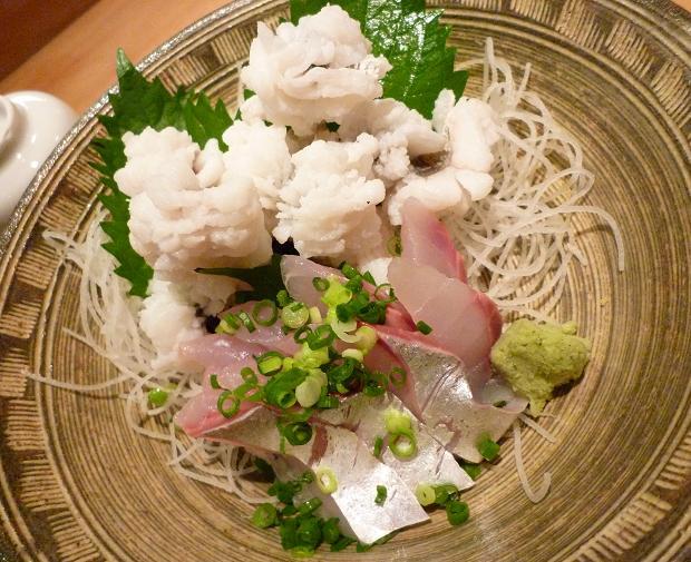 6『居酒屋 やまちゃん』 淡路島産鱧と、愛媛産釣り鰺