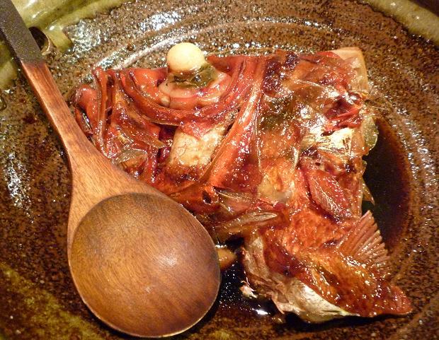 14『居酒屋 やまちゃん』 千葉県銚子産金目鯛カシラの煮付け