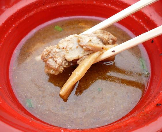 『川越達也×頑者@大つけ麺博(2010秋)』 W川越コラボナーラ(女子盛り・つけ汁の具)