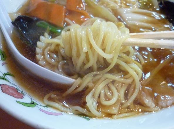 『餃子の王将 亀有店』 ミニ広東麺セット(麺リフト)