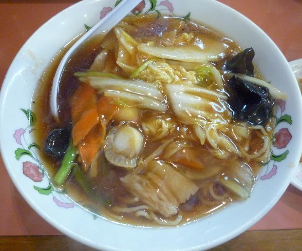 『餃子の王将 亀有店』 ミニ広東麺セット(ミニ広東麺)