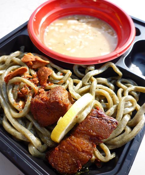 『五福星@大つけ麺博@浜松町』 紫蘇とがごめ昆布のみぞれつけ麺(女子盛・アップ)