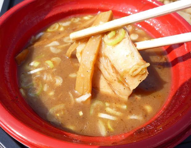 『中華蕎麦 とみ田@大つけ麺博2010秋』 厳選国産小麦(女子盛) つけ汁と具材