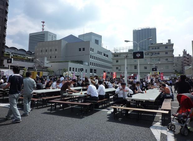「大つけ麺博」@浜松町 最終日の会場