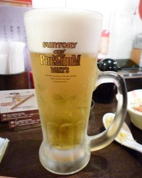 『金町製麺』 ザ・プレミアム・モルツ 400円 (※2010年10月下旬撮影)