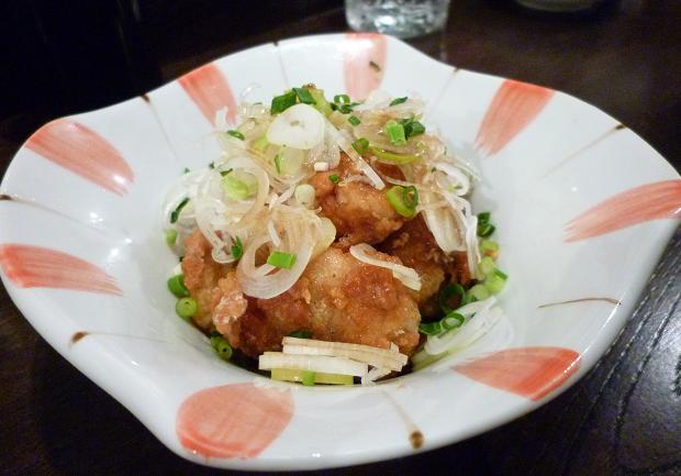 『金町製麺』 鮭の白子竜田揚げポン酢ソース 300円 (※2010年10月下旬撮影)