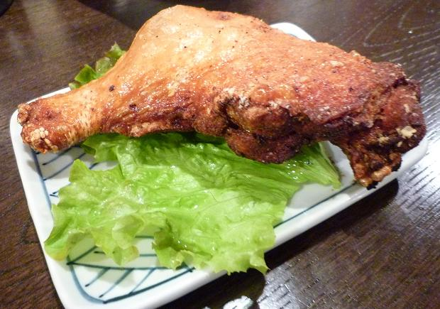 『金町製麺』 とりモモ肉揚げ 400円 (※2010年10月下旬撮影)