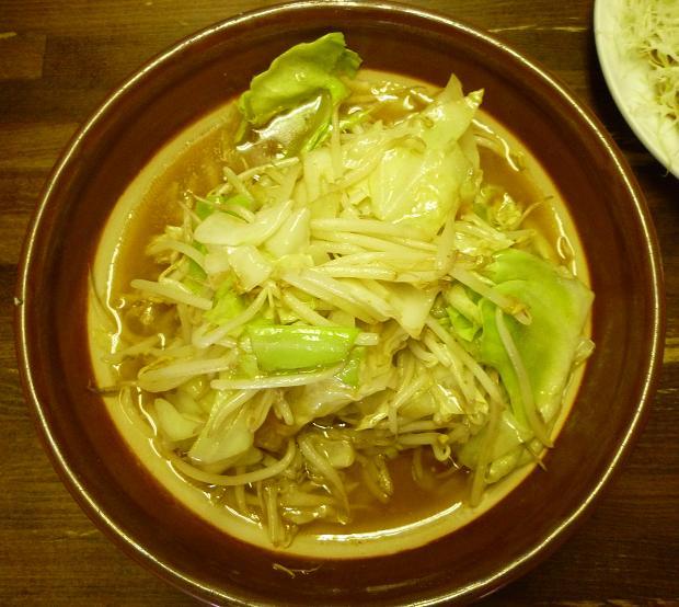 『ラーメン東横 笹口店』 野菜みそラーメン(割りスープ付・750円)