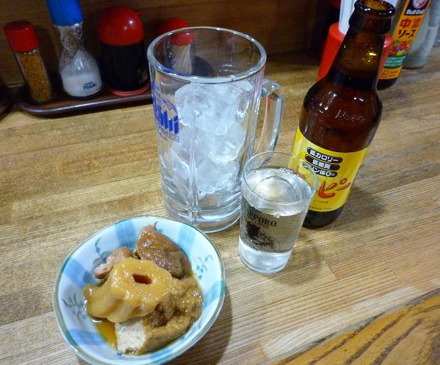 『やきとり居酒屋 鳥精』 ホッピー(400円)・つきだし(?円)
