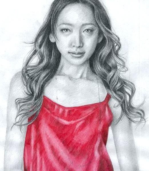 杏さんを描いた鉛筆画(2010年末)