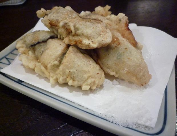 『金町製麺』 牡蠣の天ぷら(400円)