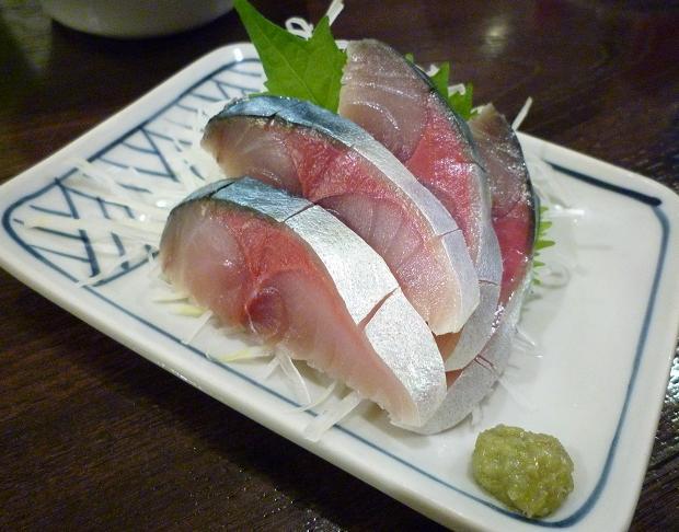『金町製麺』 寒鯖の〆鯖(380円)