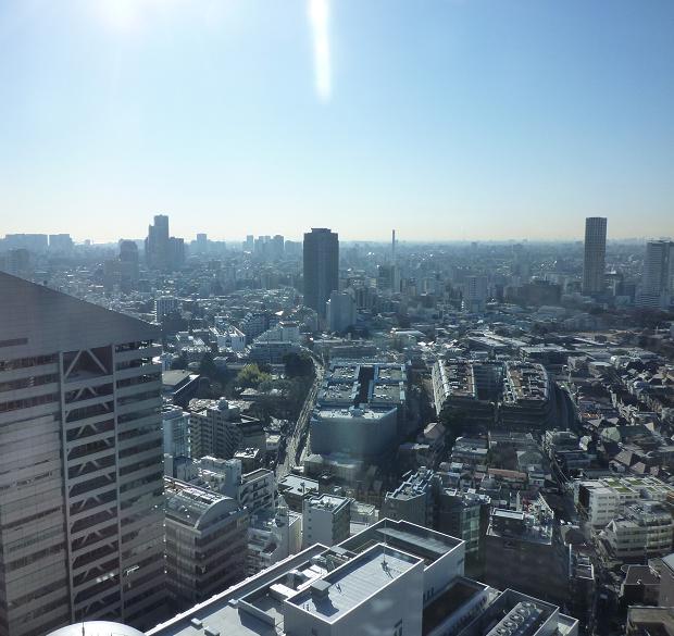 渋谷某ホテルの二十数階からの展望