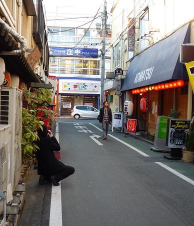 東松山の街中での撮影風景