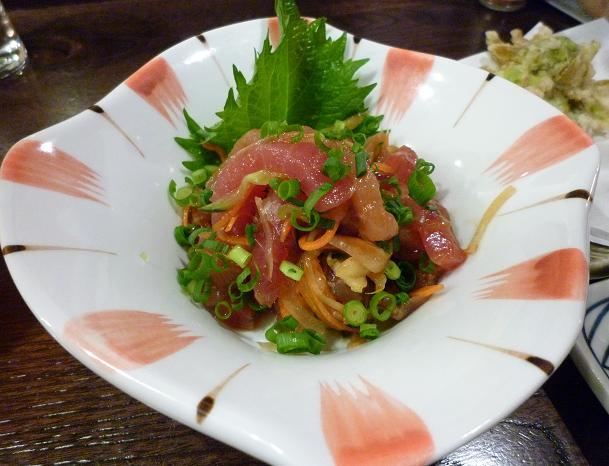 『金町製麺』 マグロユッケ(400円)