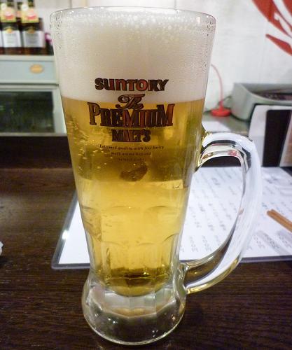 『金町製麺』 プレミアムモルツ生(400円)