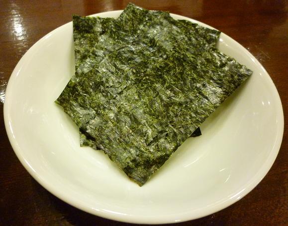 『アートマサシヤ』 特製旨口ラーメン(別皿の海苔)