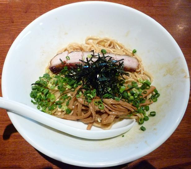『ちゃぶ屋 ズットブランチ』 特 牡蠣あぶらそば正油味 かつお風味(850円)
