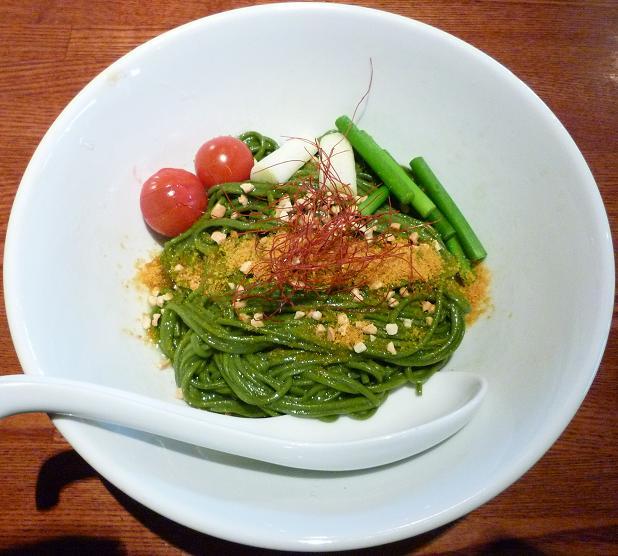 『ちゃぶ屋 ズットブランチ』 特 スピルリナ麺のあぶあらそば塩味(950円)